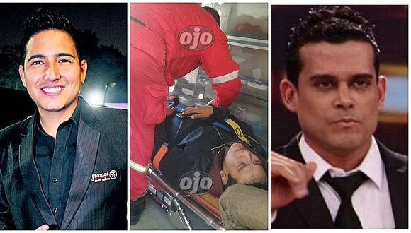 Pedro Loli, cantante de la orquesta de Christian Domínguez, se golpeó la cabeza en accidente