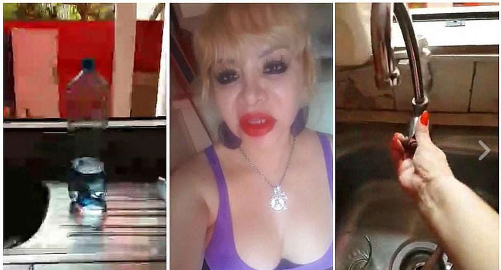 ¡A su peculiar estilo! Susy Díaz sufrió falta de agua y así suplicó a Sedapal (VIDEO)