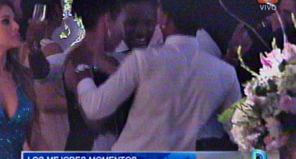 Jefferson Farfán y André Carrillo hicieron de las suyas en la boda de Yaco Eskenazi y Natalie Vértiz [VIDEO]