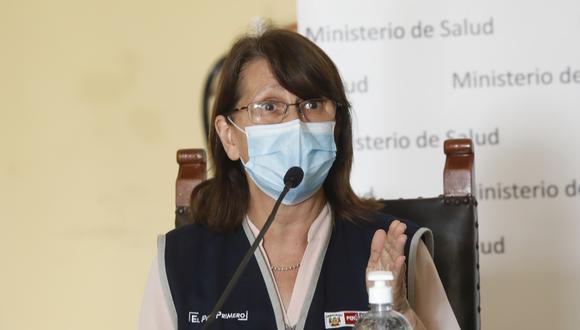 La ministra de Salud, Pilar Mazzetti, se pronunció sobre el desarrollo de las Elecciones Generales 2021 durante la pandemia del COVID-19. (GEC)