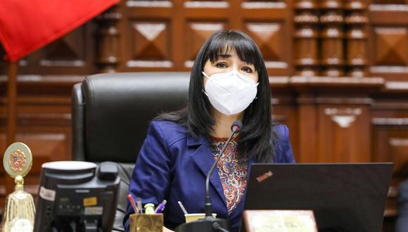 Mirtha Vásquez fue presidenta del Congreso entre noviembre del 2020 y julio del 2021. (Foto: Congreso)