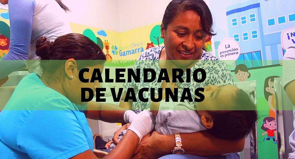Estas son las vacunas obligatorias y gratuitas para niños entre 0 y 9 años, según el Minsa