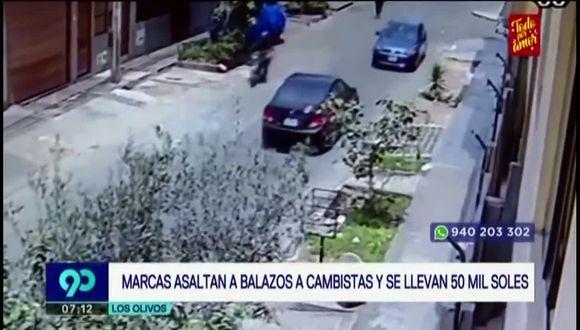 Las cámaras de seguridad de la zona registraron el asalto. (Foto captura: Latina)