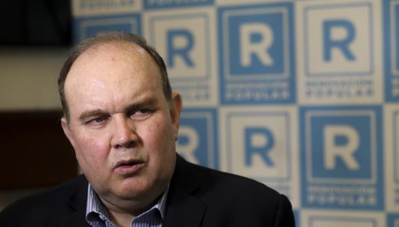 Rafael López Aliaga es candidato presidencial de Renovación Popular. (Foto: Britanie Arroyo / @photo.gec)