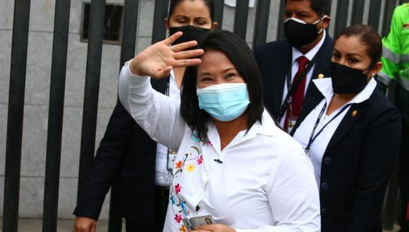 La candidata de Fuerza Popular, Keiko Fujimori, ya es ganadora en al menos 3 regiones del Perú. (Foto: Alessandro Currarino / @photo.gec)