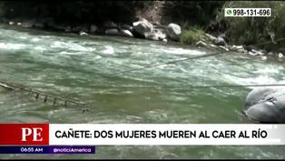 Tragedia en Cañete: Dos mujeres mueren al caer a río