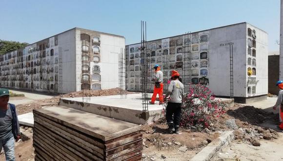 Se ha puesto a disposición del público un total de 1,071 nichos del cementerio El Ángel bajo la modalidad de preventa. (Beneficencia de Lima)