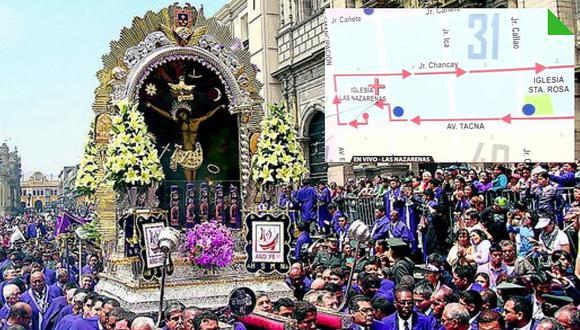 Conoce los cambios de ruta del Metropolitano por la procesión del Señor de los Milagros