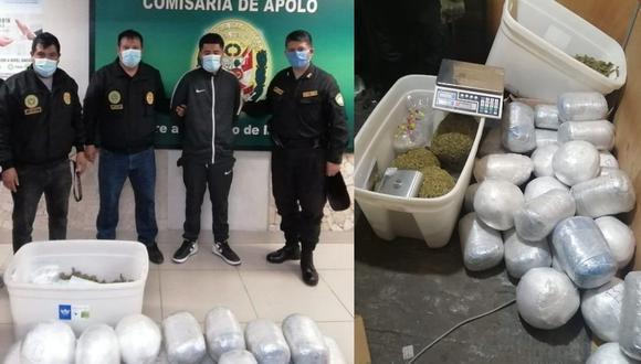 Droga se encontraba en la vivienda de sospechoso. (Difusión PNP)