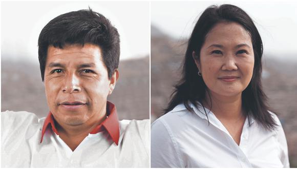 Pedro Castillo alcanzó un 50.125% de los votos válidos por delante de Keiko Fujimori, quien cuenta con un 49.875%, según el reporte actualizado de la ONPE al 100% de actas contabilizadas. (Foto: GEC)