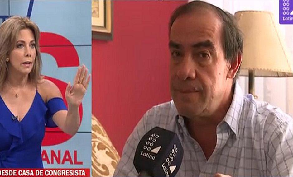 Yonhy Lescano y Maritere Braschi protagonizan tensa entrevista tras denuncia de acoso sexual