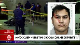 SJM: motociclista muere tras chocar contra una de las columnas del puente Alipio Ponce