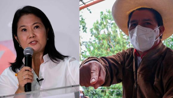 Finalmente la ONPE terminó el conteo de votos y con esto se determina que Keiko Fujimori y Pedro Castillo disputarán la segunda vuelta de las Elecciones Generales de Perú 2021. FOTO: AFP