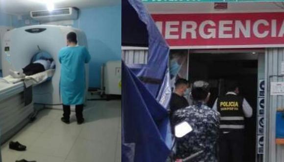 Uno de ellos es un ciudadano venezolano. Ambos no contaban con los títulos de médico cirujano y licenciado tecnólogo médico acreditados por la Sunedu y la Diris (Foto: PNP)