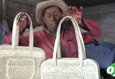 Artesano a punto de llorar pide por redes que le compren sus bolsas y sombreros   VIDEO