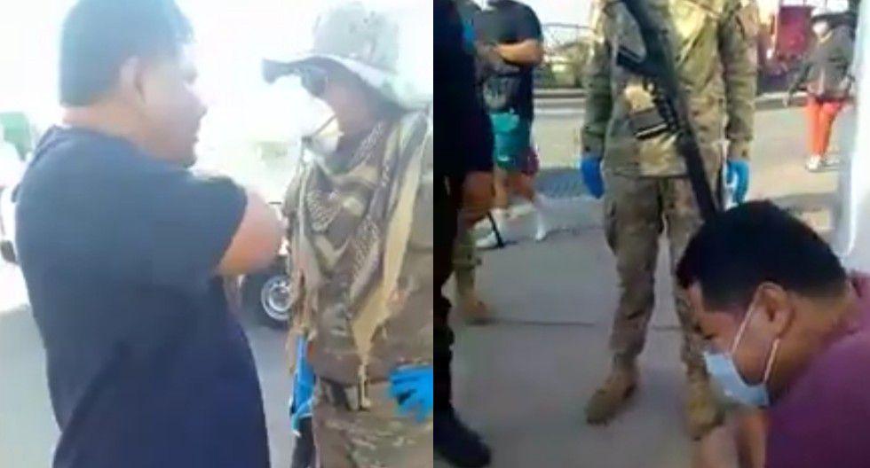 Ica: Médico y su hijo se resisten a intervención de militares durante cuarentena.