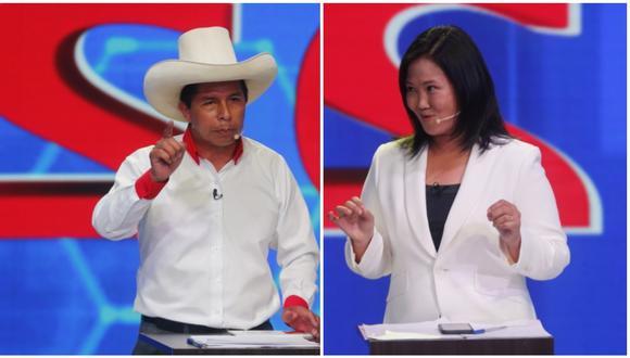 Pedro Castillo y Keiko Fujimori disputaría la segunda vuelta de las Elecciones 2021. (Foto: GEC)
