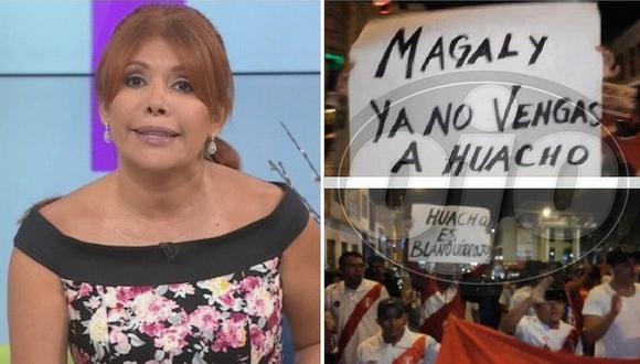 Grupo de hinchas pide que Magaly Medina no regrese a Huacho (VIDEO)