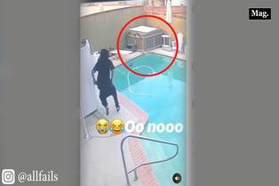 Viral: joven rescata a perrito que cae a piscina