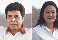 ONPE al 100% de actas contabilizadas: Pedro Castillo supera por 44,058 votos a Keiko Fujimori