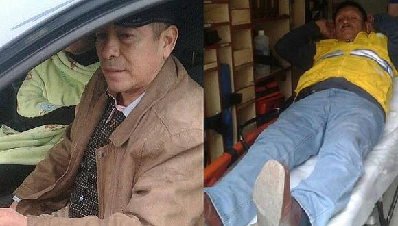 ¡El colmo! Policía ingresa a carril del Metropolitano y atropella a trabajador