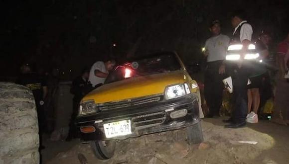 La Libertad. Taxista fue asesinado de cinco balazos en el distrito de La Esperanza. (GEC)