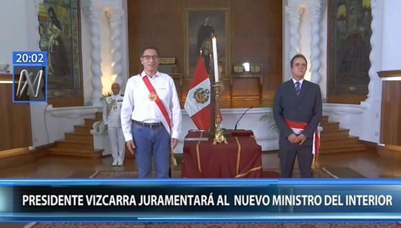 El general PNP Gastón Rodríguez asumió como nuevo ministro del Interior. (Foto: Captura Canal N)