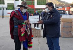Puno: 1500 pruebas rápidas son entregadas a tenientes gobernadores de Huancané