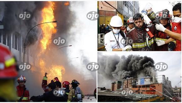 Incendio consume galería en Las Malvinas (FOTOS y VIDEO)