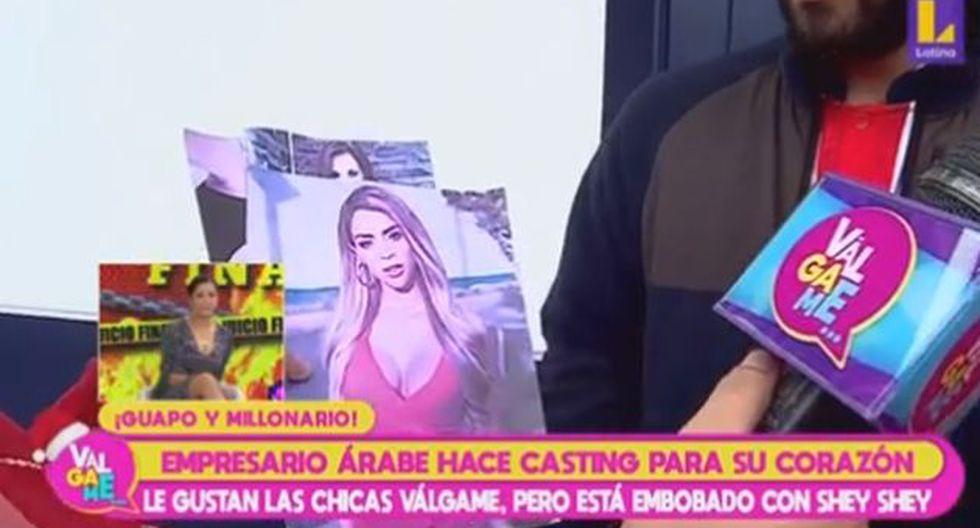 """Millonario árabe la calificó a Sheyla Rojas de """"muy hermosa"""", tras verla en foto. (Imagen: Latina)"""