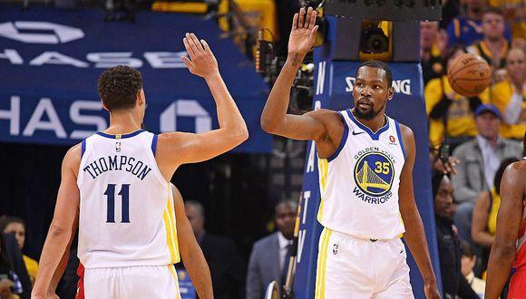 NBA: Warriors renovará a lesionados Kevin Durant y Klay Thompson