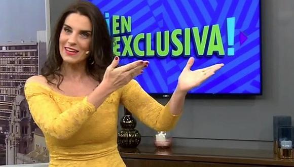"""Laura Borlini se presenta como la nueva conductora de """"En Exclusiva""""│VÍDEO"""