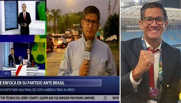 """Erick Osores se enfrenta a su colega en vivo: """"te pones a mi lado y te enseño periodismo""""│VIDEO"""