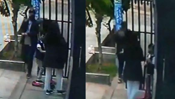 La cámara de seguridad, instalada por los vecinos, captaron el robo.