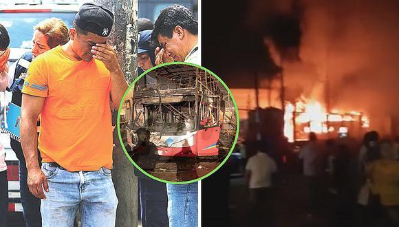 Papito viajó a Lima para comprar útiles escolares a su hija y murió en bus incendiado