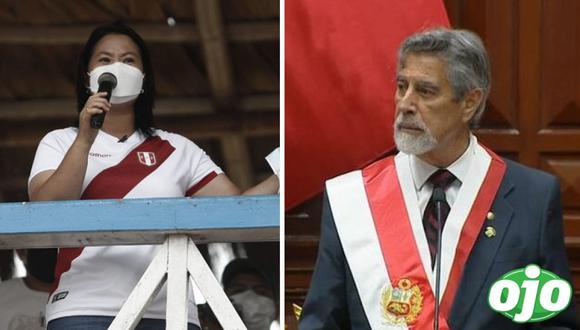 """Sagasti juega con ilusiones de Keiko Fujimori: """"no dije que el partido acabó, estamos en penales"""""""