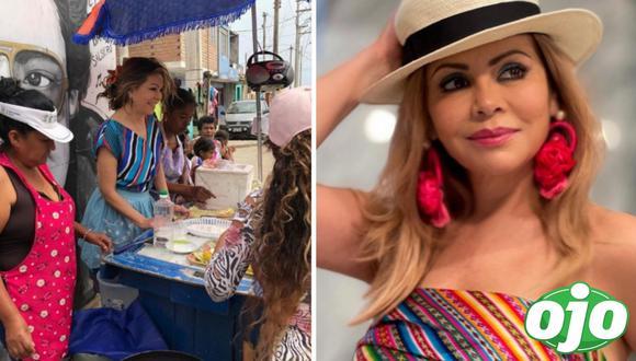 """Gisela será una vendedora de papa rellena en serie """"Llauca"""". Foto: (Instagram/@giselavalcarcelperu)."""
