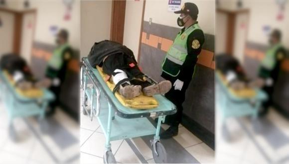 Cusco: durante su huida el ladrón tropezó y como consecuencia tuvo una grave lesión en la pierna. (Foto: PNP)