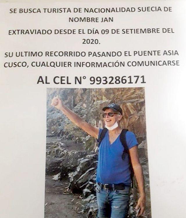 Cusco: turista de nacionalidad sueca está desaparecido desde hace una semana en Pisac