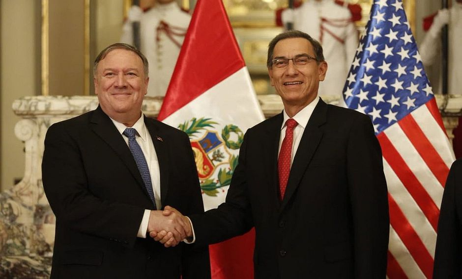 Secretario de Estado de EE.UU. felicita a Martín Vizcarra por su lucha contra la corrupción