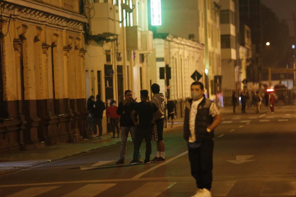 Un sismo de magnitud 6 en la escala de Richter se reportó a las 21:54 p.m. en Lima, del martes 22 de junio, informó el Instituto Geofísico del Perú (IGP) en sus redes sociales. (Foto :Jorge Cerdan/@photo.gec)