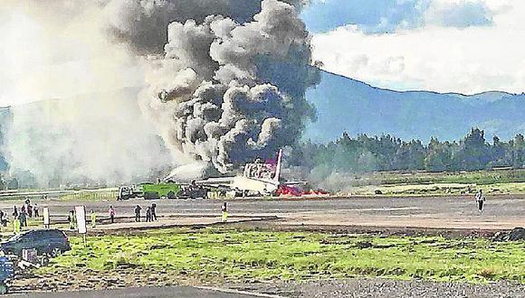 141 pasajeros salvan de morir calcinados