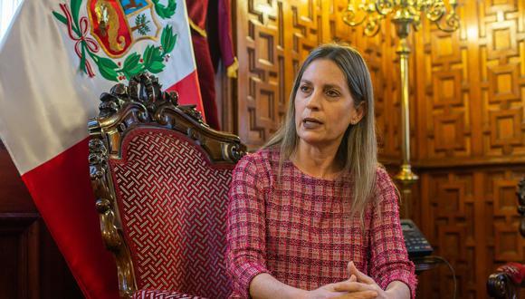 """La presidenta del Congreso indicó al diario 'Trome', que """"la calle"""" es la que pide la vacancia de Pedro Castillo. (Foto: GEC)"""