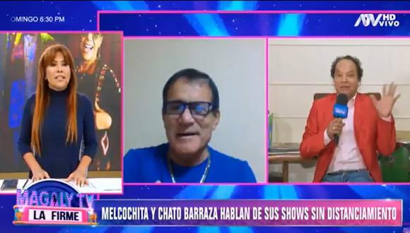 Melcochita y Miguel Barraza hicieron reír a Magaly  Medina.