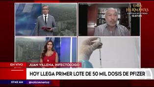 """Juan Villena: """"Vacuna de Pfizer solo podrá ser aplicada en lugares donde se garantice la cadena de frío"""""""