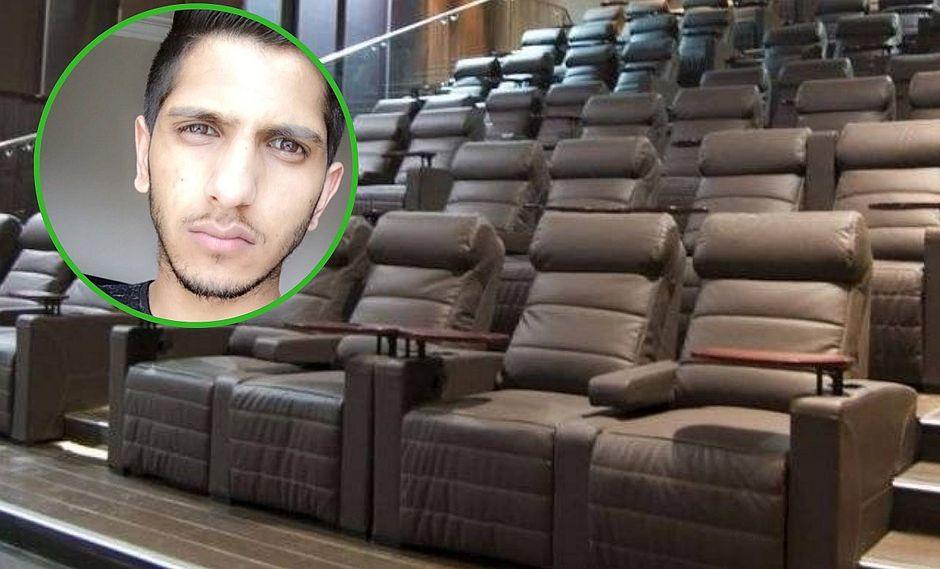 Joven va al cine y muere al quedarse atrapado en su silla