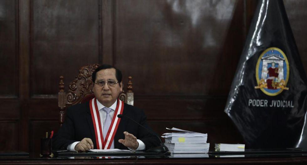 El juez Hugo Núñez Julca aseguró que el control de acusación contra Kenji Fujimori demorará varias audiencias. (Foto: Leandro Britto / GEC)