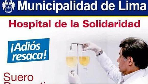 Hospital de la Solidaridad lanza suero para liberarte de la 'resaca'