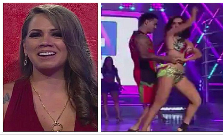 Rosángela Espinoza saca a bailar a Diego Chávarri en la cara de Melissa Klug