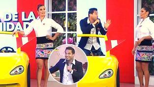 """Karla Tarazona y Jonathan Rojas discuten en vivo: """"Arranca papito"""""""